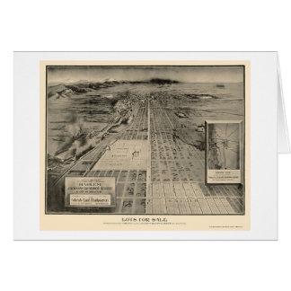 Denver, mapa panorámico del CO - 1907 Felicitacion