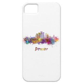 Denver skyline in watercolor funda para iPhone SE/5/5s