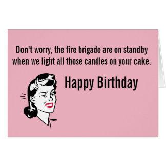 Departamento de bomberos del cumpleaños tarjeta