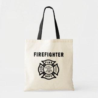 Departamento del fuego del bombero bolso de tela