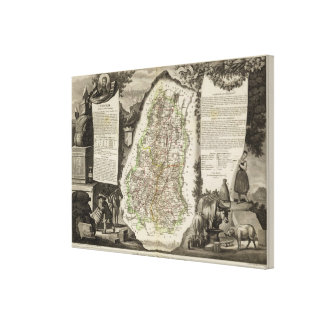 Departamento Du Haut-Rhin Impresión En Lienzo Estirada