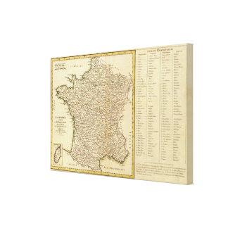 Departamentos de Francia Impresiones En Lona Estiradas
