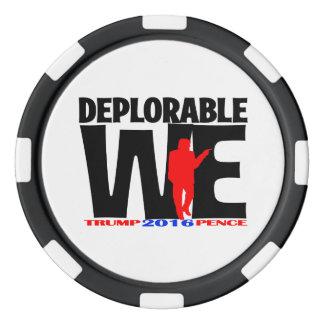 Deplorable nosotros fichas de póker