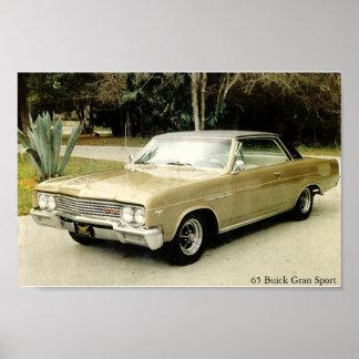 Deporte 1965 de Buick Skylark Gran Póster