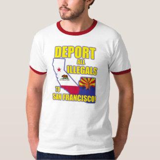 Deporte a todos los Illegals a San Francisco Camiseta