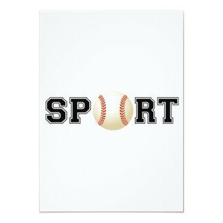 Deporte (béisbol) invitación 12,7 x 17,8 cm