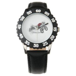 Deporte BMX de la bici Reloj