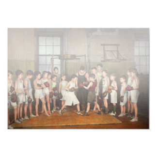 Deporte - boxeo - puños de la furia 1924 invitación 12,7 x 17,8 cm