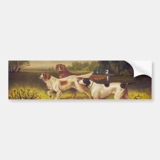 Deporte de los perros de caza en julio por Hoover Etiqueta De Parachoque