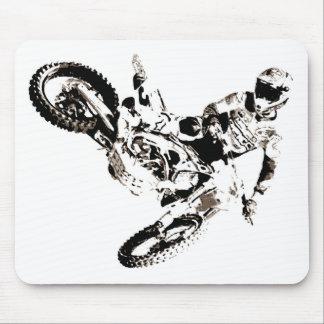 Deporte de Motorcyle del motocrós del arte pop Alfombrilla De Ratón