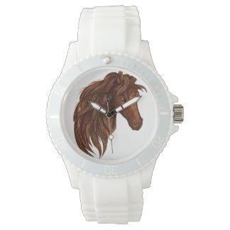 Deporte del caballo de los caballos reloj