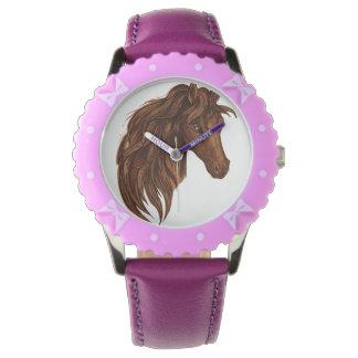 Deporte del caballo de los caballos relojes de mano