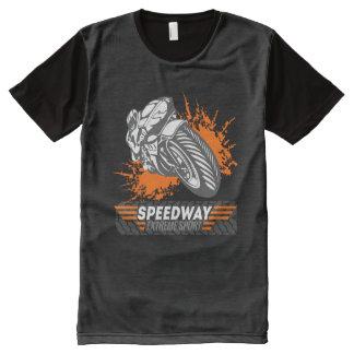Deporte extremo 1 del carretera camisetas con estampado integral