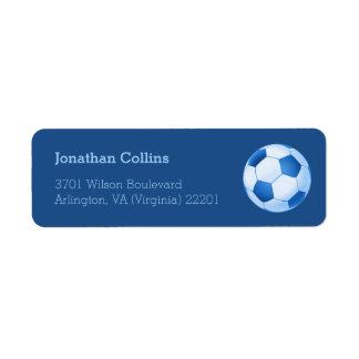 Deporte personalizado del fútbol del fútbol el   etiqueta de remite