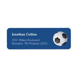 Deporte personalizado del fútbol del fútbol el   etiquetas de remite