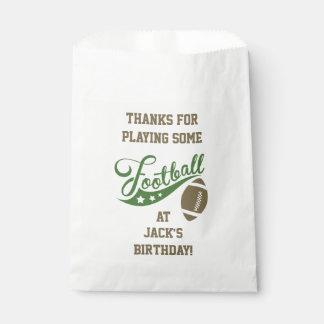 Deportes - bolsos temáticos del favor con fútbol bolsa de papel