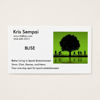 Deportes de BLISE Tarjeta De Visita