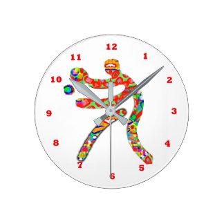 Deportes de los TENIS DE MESA Reloj Redondo Mediano