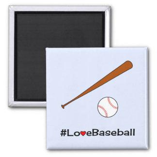 Deportes del lema del hashtag del béisbol del amor imán