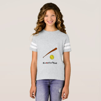 Deportes del lema del hashtag del softball camiseta