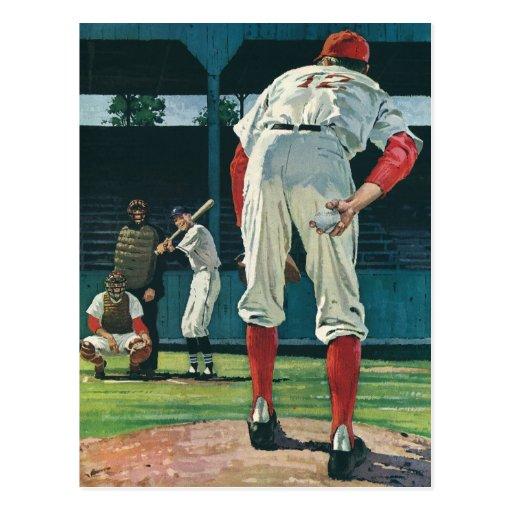 Deportes del vintage, jugadores de béisbol que jue postal