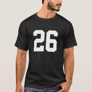 Deportes número 26 camiseta