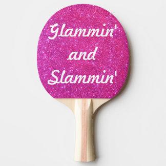 Deportes relucientes atractivos del brillo pala de ping pong