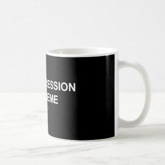 Depresión/Meme - taza del negro/blanca