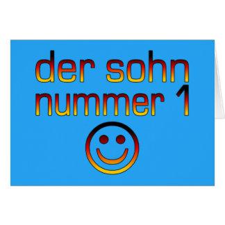 Der Sohn Nummer 1 - hijo del número 1 en alemán Tarjeta