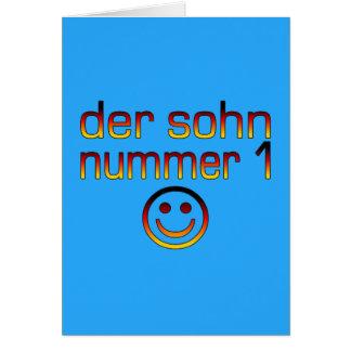 Der Sohn Nummer 1 - hijo del número 1 en alemán Felicitación