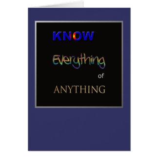 Derecho saber tarjeta de felicitación