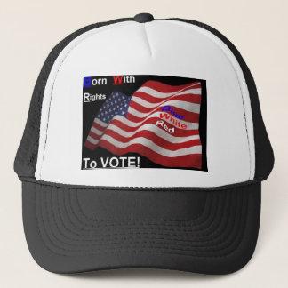Derecho votar el gorra