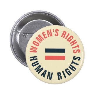 Derechos humanos iguales de las derechas de las chapa redonda de 5 cm