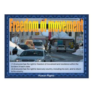 Derechos humanos - libertad movimiento postal