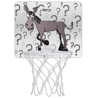 Derp de la interrogación del burro minicanasta de baloncesto