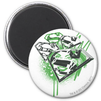 Derramamientos del verde de Supergirl Imán Redondo 5 Cm