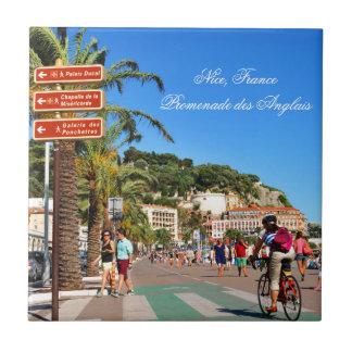 """DES Anglais de la """"promenade"""" Azulejo Cuadrado Pequeño"""