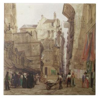 DES Pretes, St Germain L'Auxerrois, París de la ru Azulejo Cuadrado Grande