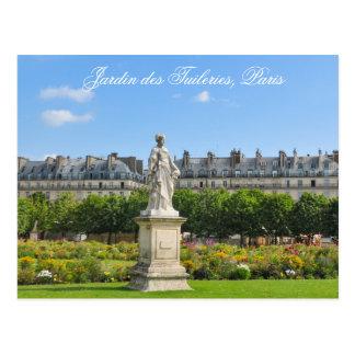 DES Tuileries de Jardin en París, Francia Postal