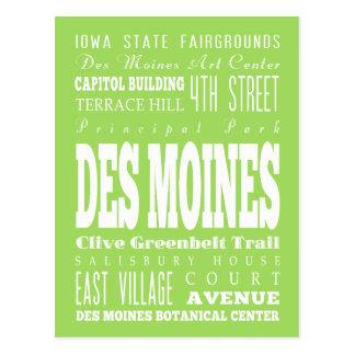 DES único Miones, idea del regalo de Iowa Postal