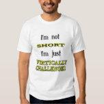 Desafiado verticalmente camisetas