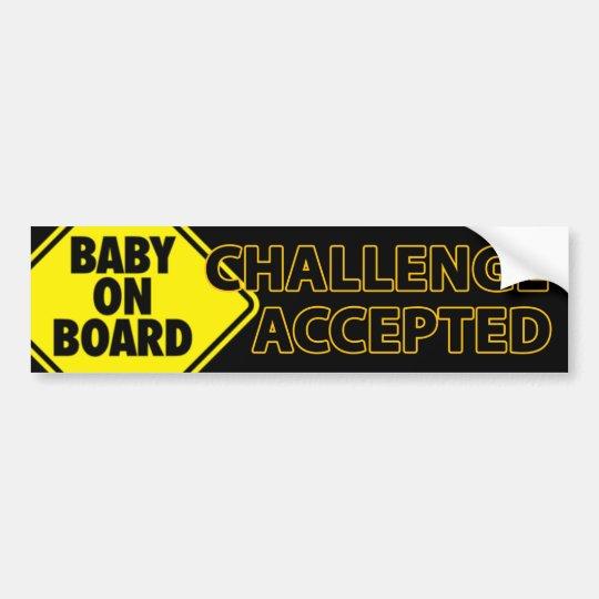 Desafío 004 del bebé pegatina para coche