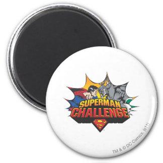 Desafío del superhombre imán redondo 5 cm