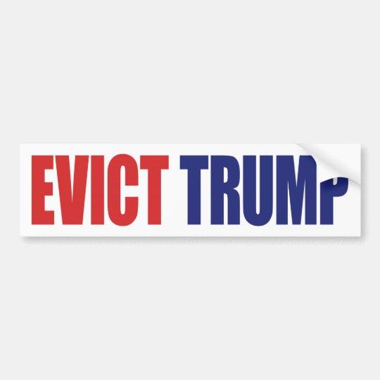 Desahucie el triunfo - presidente anti Trump Pegatina Para Coche