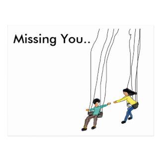 Desaparecidos mínimos usted postal con arte