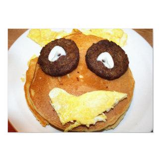 Desayuno feliz de la cara invitación 12,7 x 17,8 cm