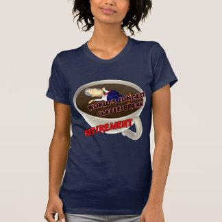 Descanso para tomar café del retiro (2) camiseta