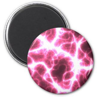 Descarga eléctrica en rosa imán