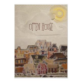 Descenso en estreno de una casa del collage - invitación 12,7 x 17,8 cm