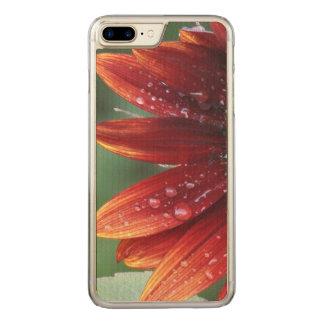 Descensos rojos de los pétalos y de la lluvia del funda para iPhone 8 plus/7 plus de carved